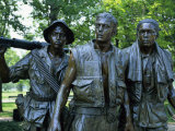 Close-Up of Statues on the Vietnam Veterans Memorial in Washington D.C., USA Photographic Print by Hodson Jonathan