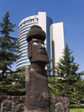 Moai Statue in Central Santiago, Chile, South America Photographic Print by Gavin Hellier