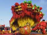 Lion Dance, Chinese New Year, Spring Festival, Beijing, China Photographic Print by Kober Christian