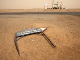 Fallen Signposts in the Desert, Along the Khartoum to Atbara Highway, Sudan, Africa Photographic Print by Mcconnell Andrew