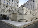 Jewish Holocaust Memorial in Judenplatz, Vienna, Austria, Europe Photographic Print by Levy Yadid
