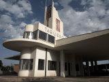 Futuristic Fiat Tagliero Building, Asmara, Eritrea, Africa Fotografisk tryk af Mcconnell Andrew