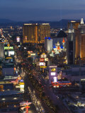 Neon Lights of the The Strip at Night, Las Vegas, Nevada, United States of America, North America Photographic Print by Kober Christian