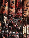 Various African Masks on Sale at Aswan Souq, Aswan, Egypt, North Africa, Africa Photographic Print by Mcconnell Andrew