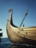 Replica of 9th Century Viking Ship, Oseberg, Norway, Scandinavia, Europe Photographic Print by Lomax David