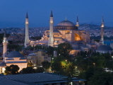 Elevated View of Aya Sofya, in Sultanahmet, Istanbul, Turkey Photographic Print by Gavin Hellier