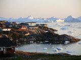 Ilulissat Kangerlua Glacier also known as Sermeq Kujalleq, Ilulissat, Disko Bay, Greenland Photographic Print by Levy Yadid