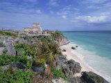 Mayan Ruins of Tulum, Yucatan Peninsula, Mexico, North America Photographic Print by Miller John