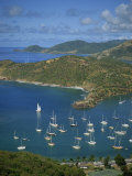 English Harbour, with Moored Yachts, Antigua, Leeward Islands, West Indies, Caribbean Photographic Print by Lightfoot Jeremy