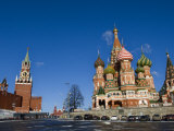 St. Basils Cathedral, Red Square, UNESCO World Heritage Site, Moscow, Russia, Europe Photographic Print by Lawrence Graham