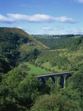 Dale and Viaduct from Monsal Head, Monsal Dale, Derbyshire, England, United Kingdom, Europe Photographic Print by Hunter David