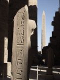 Hieroglyphics on Columns Within the Temples of Karnak, Luxor, Thebes, Egypt Photographic Print by Mcconnell Andrew