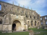 Norman Arch and Flying Buttresses, Malmesbury Abbey, Malmesbury, Wiltshire, England, United Kingdom Photographic Print by Hunter David