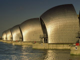 Thames Flood Barrier, Woolwich, Near Greenwich, London, England, United Kingdom, Europe, Photographic Print
