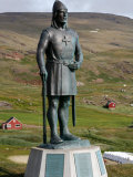 Statue of Leif Eriksson, Son of Erik the Red in Qassiarsuk, South Greenland, Polar Regions Photographic Print by Levy Yadid