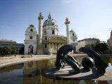 Karlskirche by Fischer Von Erlach in Karlsplatz, Vienna, Austria Photographic Print by Levy Yadid