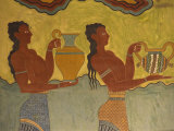Fresco Detail, Knossos, Crete, Greece, Europe Photographic Print by Harding Robert