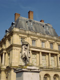 Statue in Front of Fontainebleau Chateau in Seine Et Marne, Ile De France, France, Europe Photographic Print by Hodson Jonathan