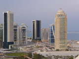 New Skyline of the West Bay Central Financial District of Doha, Doha, Qatar, Middle East Photographic Print by Gavin Hellier