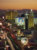 Elevated View of Hotels and Casinos, Las Vegas, Nevada, United States of America, North America Photographic Print by Gavin Hellier