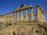 Ruins of the Greek Temples at Selinunte on the Island of Sicily, Italy, Europe Photographic Print by Newton Michael