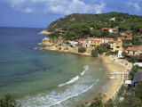 View over Bay and Biodola Beach, Island of Elba, Livorno Province, Tuscany, Italy, Europe Photographic Print by Morandi Bruno