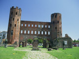 Porta Palatina, Roman Towers and Archways, Date from Between 100 and 30 BC, Turin, Piemonte, Italy Photographic Print by Maxwell Duncan