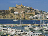 Ibiza Town Skyline and Marina, Ibiza, Balearic Islands, Spain, Mediterranean, Europe Photographic Print by Lightfoot Jeremy
