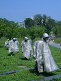 Statues of Soldiers at the Korean War Memorial in Washington D.C., USA Photographic Print by Hodson Jonathan
