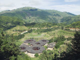 Hakka Tulou Round Earth Buildings, UNESCO World Heritage Site, Fujian Province, China Photographic Print by Kober Christian