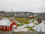 Houses and the Frelsers Kirke in the Kolonihavn, Nuuk, Greenland Photographic Print by Levy Yadid