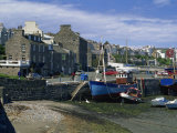 Fishing Boat Dried Out in the Old Harbour, Port St. Mary, Isle of Man, United Kingdom, Europe Photographic Print by Maxwell Duncan