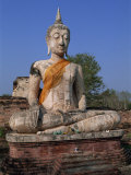 Large Statue of the Seated Buddha, Wat Mae Chon, Sukhothai, Thailand, Southeast Asia Photographic Print by Morandi Bruno