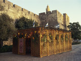 Succot, Festival of the Tabernacles, Tower of David, Jerusalem, Israel, Middle East Photographic Print by Simanor Eitan