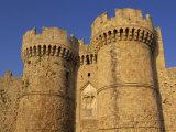 Fortifications in the Old Town, Rhodes Town, Rhodes, Dodecanese Islands, Greek Islands, Greece Fotografisk trykk av Miller John