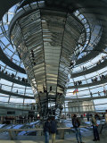 Interior of Reichstag Building, Designed by Norman Foster, Berlin, Germany, Europe Photographic Print by Morandi Bruno