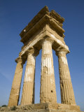 Temple of Castor and Pollux, Valley of the Temples, Agrigento, Sicily, Italy Photographic Print by Olivieri Oliviero