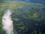 Victoria Falls, UNESCO World Heritage Site, Zimbabwe, Africa Photographic Print by Pate Jenny