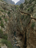 El Chorro Gorge and the Old Catwalk, Malaga Province, Andalucia, Spain, Europe Photographic Print by Maxwell Duncan