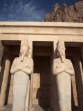 Osirid Statues at Deir Al Bahri, Funerary Temple of Hatshepsut, Thebes, Egypt Photographic Print by Mcconnell Andrew