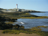 Lighthouse at Peggy's Cove, South Shore, Nova Scotia, Canada, North America Photographic Print by Simanor Eitan