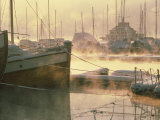 Dawn Mist in the Harbour at Frognerkilen, Oslo, Norway, Scandinavia, Europe Photographic Print by Hart Kim