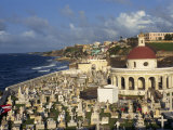 Cemetery on the Coast in the City of San Juan, Puerto Rico, USA, West Indies Photographic Print by Mawson Mark