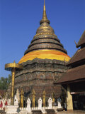 Large Chedi Outside the Buddhist Temple, Wat Phra That Lampang Luang, Province De Lampang, Thailand Photographic Print by Morandi Bruno