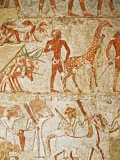 Giraffe Among the Tribute from Nubia, Tomb of Rekhmire, West Bank, Thebes, Egypt Photographic Print by Schlenker Jochen