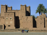 Exterior of the Amerhidil Kasbah, Skoura Oasis, Vallee Du Dades, Ouarzazate, Morocco Photographic Print by Morandi Bruno