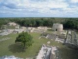 Mayapan, Former Mayan Capital after Fall of Chichen Itza, Yucatan, Mexico, North America Fotografisk trykk av Harding Robert