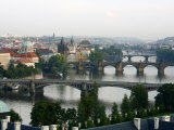View of the River Vltava and Bridges from Letna Hill, Prague, Czech Republic, Europe Photographic Print by Levy Yadid