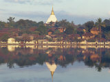 Temple of Keng Tung, Myanmar Photographic Print by Mcleod Rob