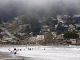 Surfers at Linda Mar Beach, Pacifica, California, United States of America, North America Photographic Print by Levy Yadid